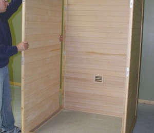 Assembling the Passport sauna