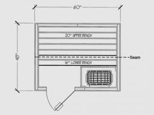 Finnleo Portable Patio Outdoor Sauna - 4x5 Layout