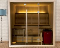 Serenity Infrared Sauna - Glass Exterior