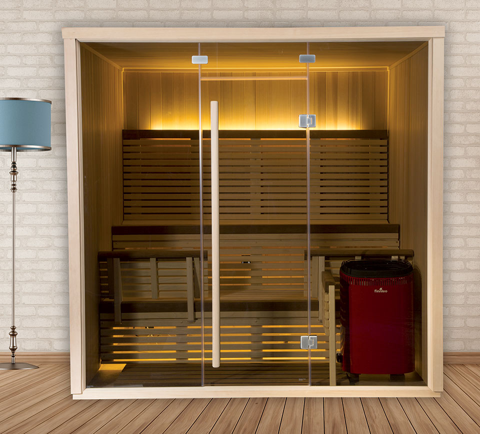serenity infrared sauna glass exterior - Infared Sauna