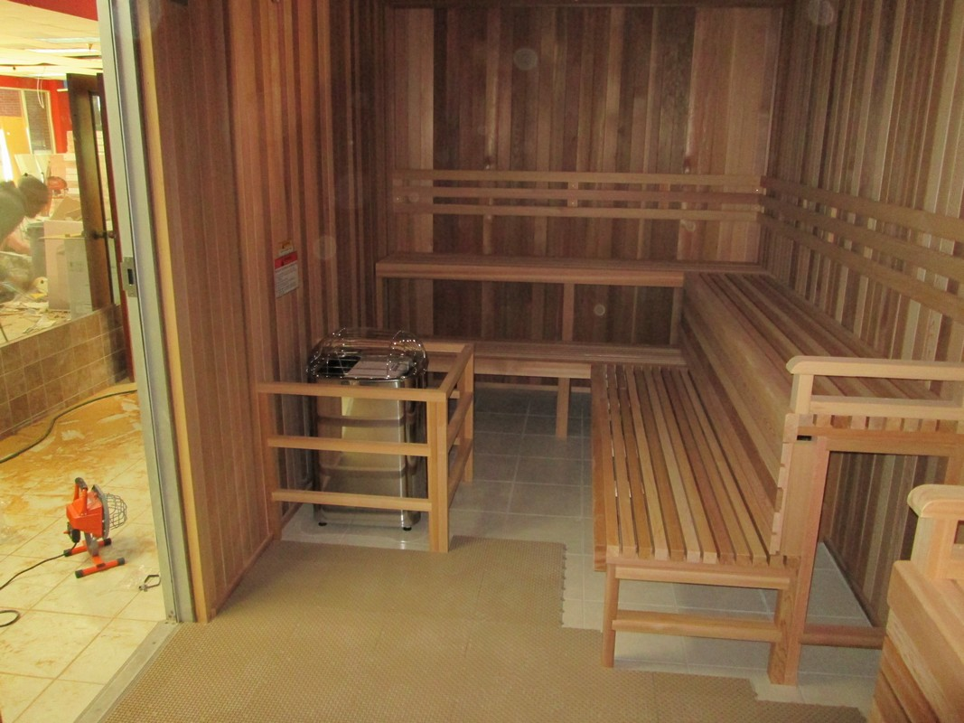 After - Fitness Nation Sauna Installation