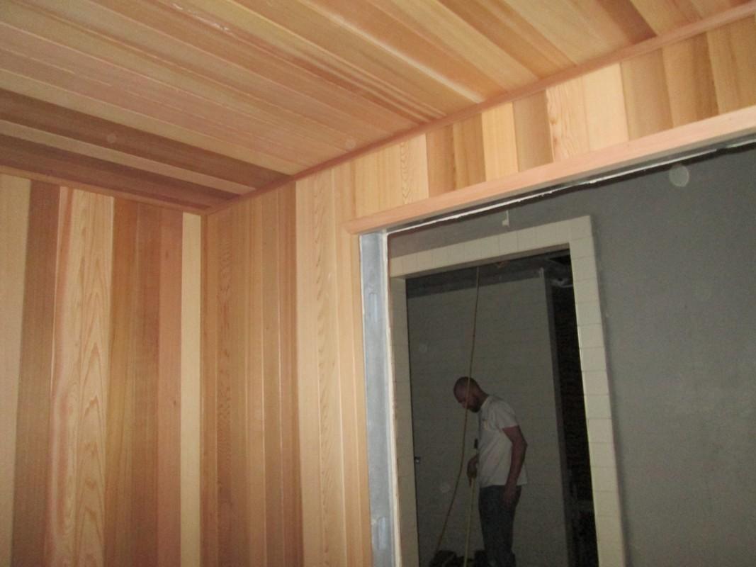 After - LA Fitness, Round Rock sauna installation