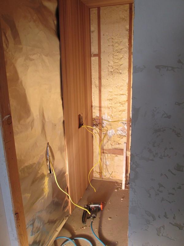 Rasnick Home - During Sauna Installation